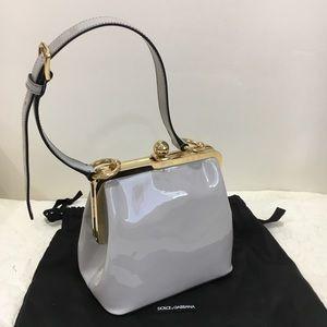 Dolce Gabbana Small Patent Agata Handbag